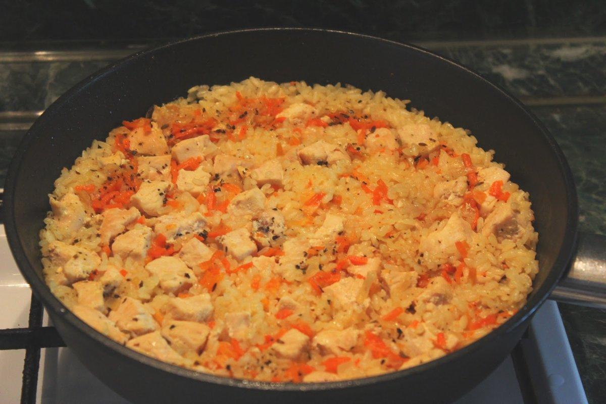 Вкусный плов с курицей в казане: рецепт с фото пошагово