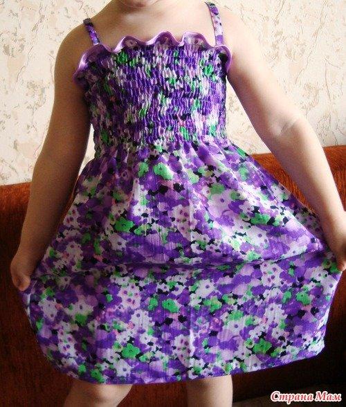 Сшить детское платье на резинке 493