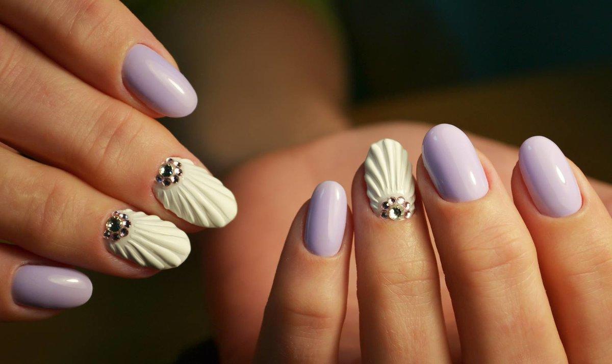 Дизайн ногти фото ракушки