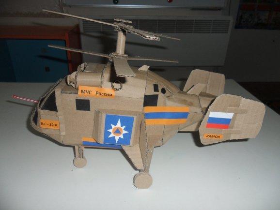 Вертолетик из картона своими руками 82