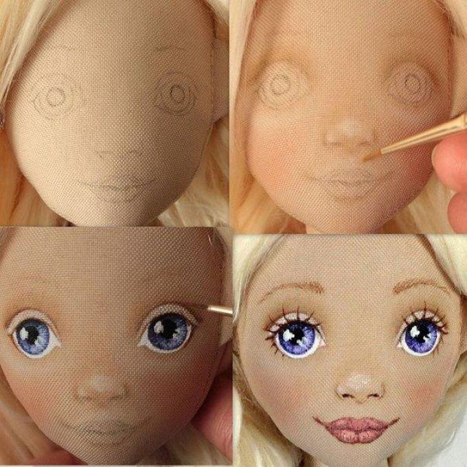 Сшить лицо для куклы из 344