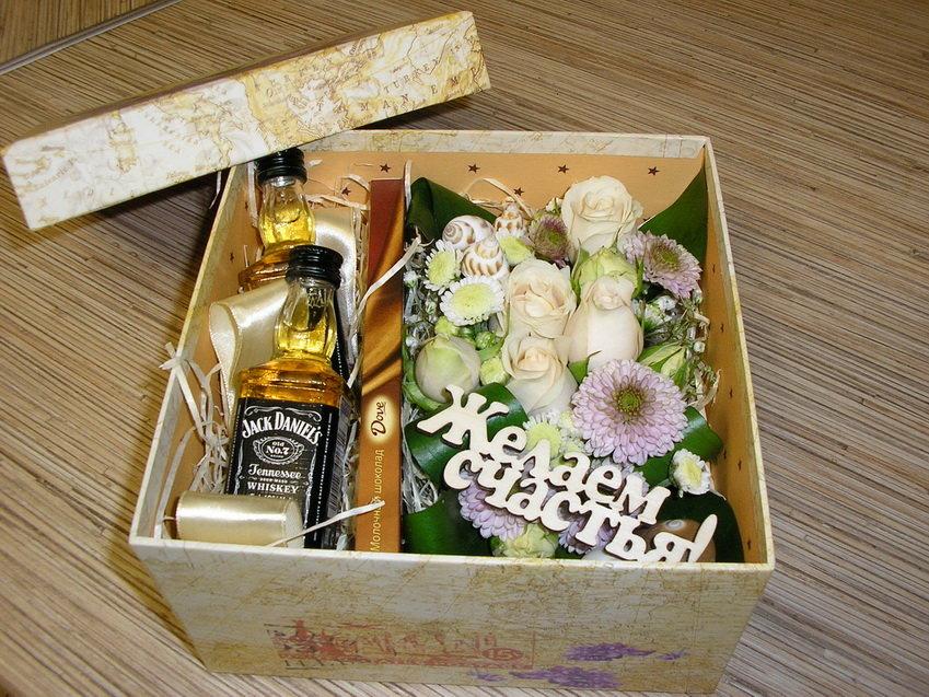 Подарочная коробка для виски своими руками 49