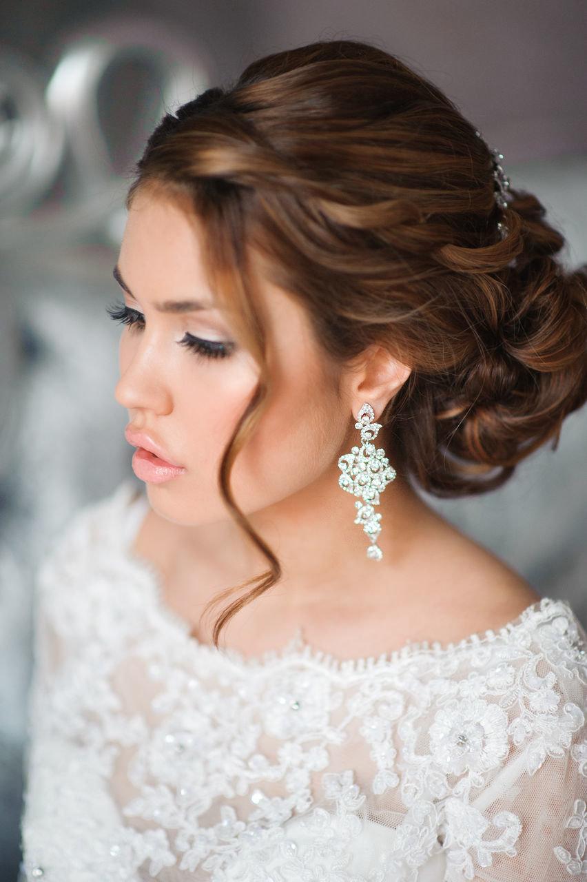 Фото свадебной прически собранные