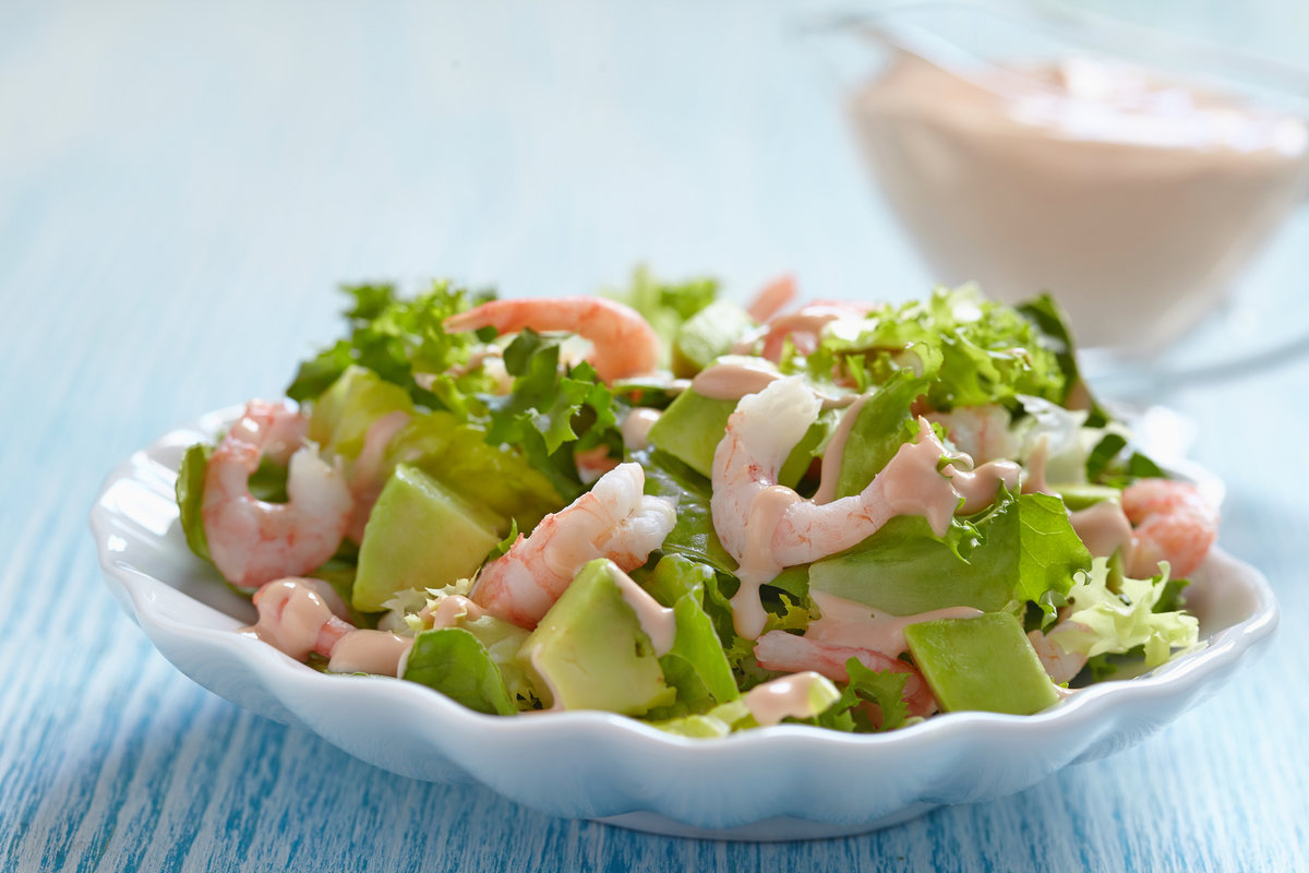 Салат с креветками для беременных 10