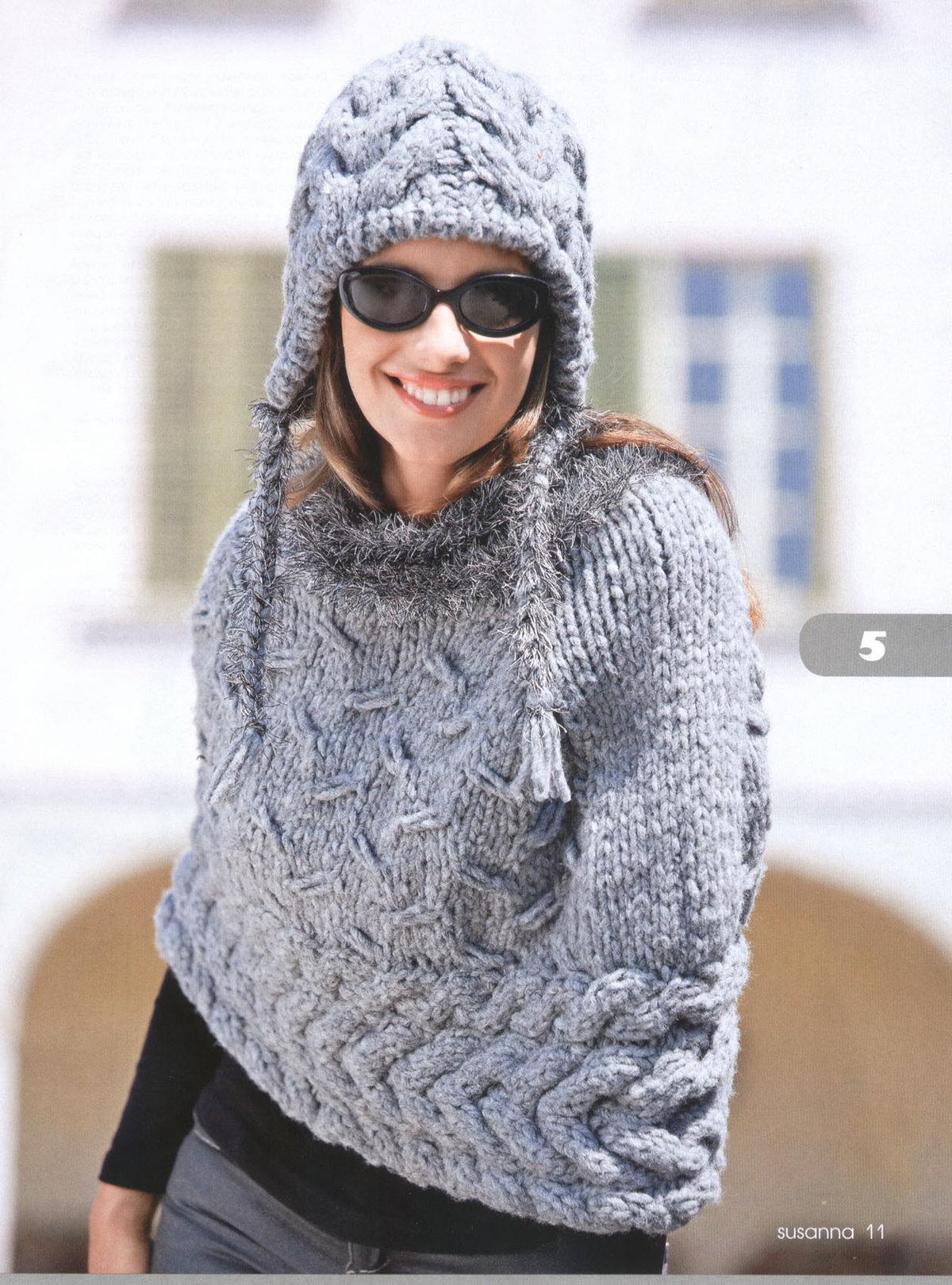 Вязание зимнего берета из толстой пряжи