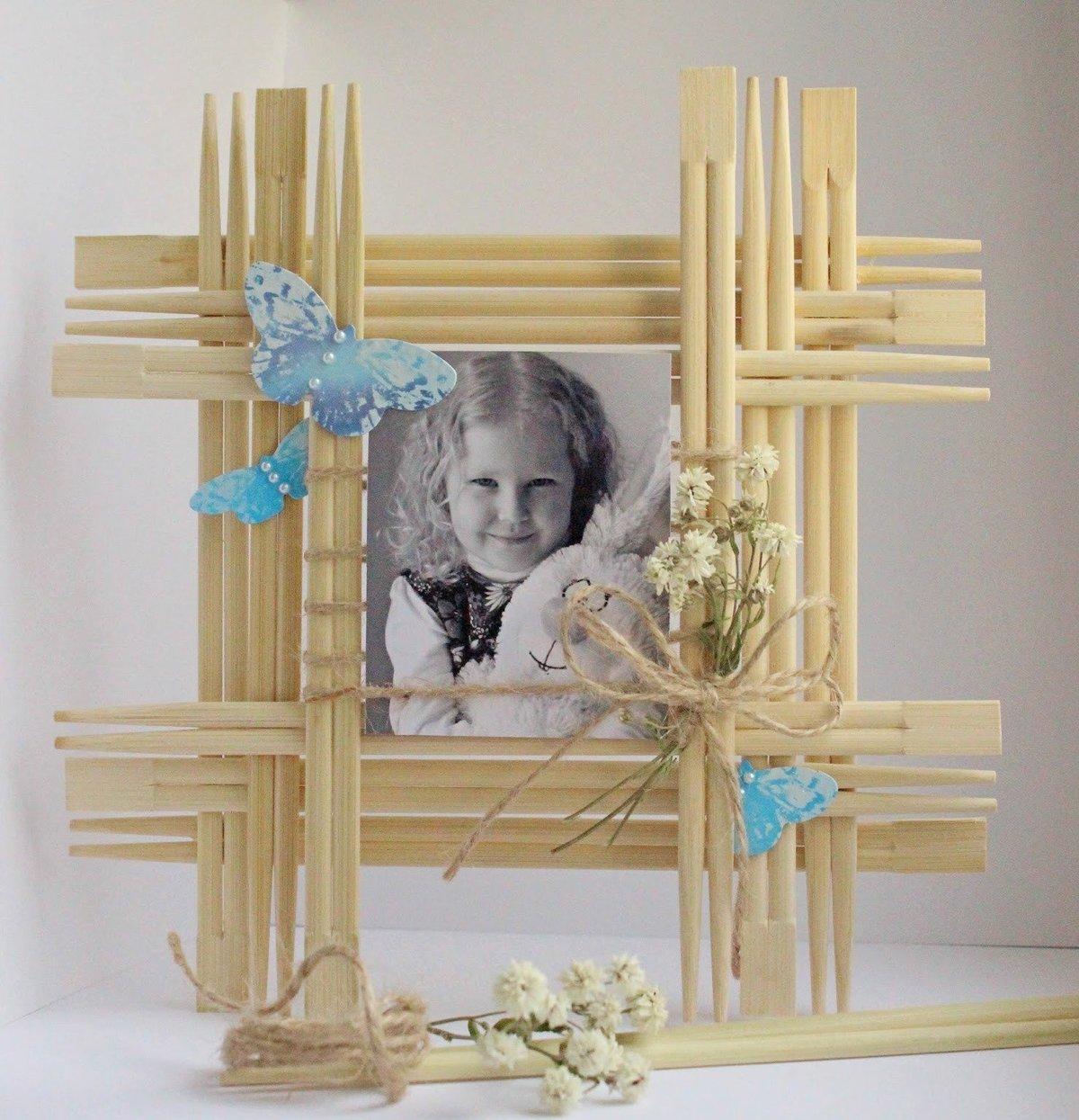 Поделки из бамбуковых палочек от суши