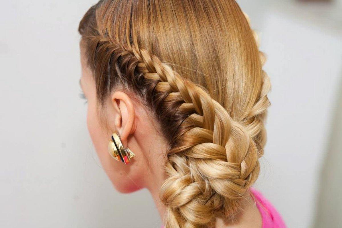Причёски из кос красивые