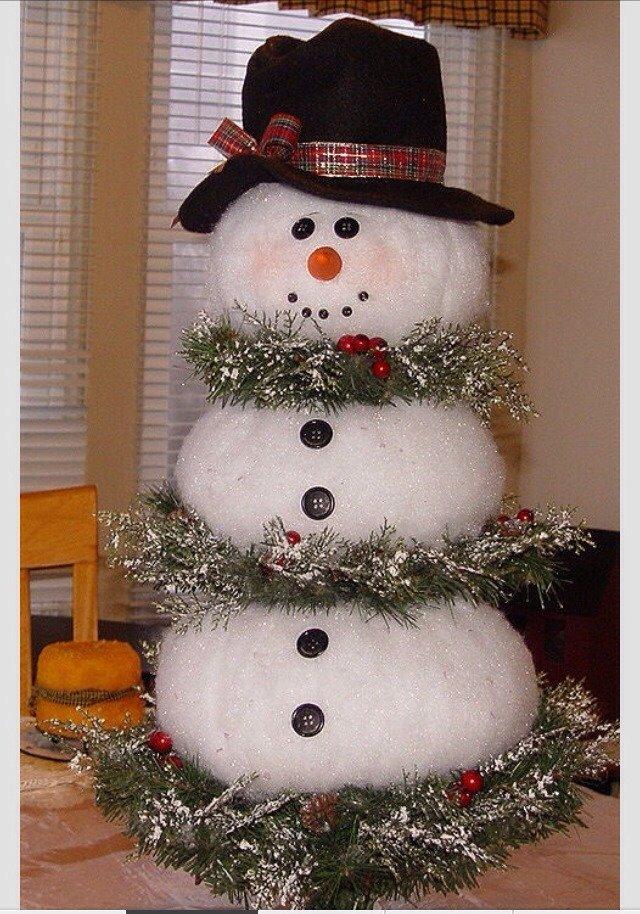 Снеговик под елку своими руками поделка 72