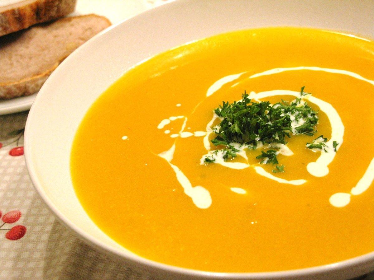 Тыквенный суп-пюре с морепродуктами рецепт