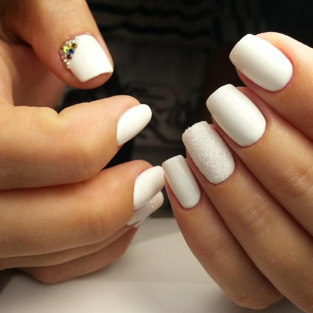 Белый Шеллак На Ногтях Дизайн