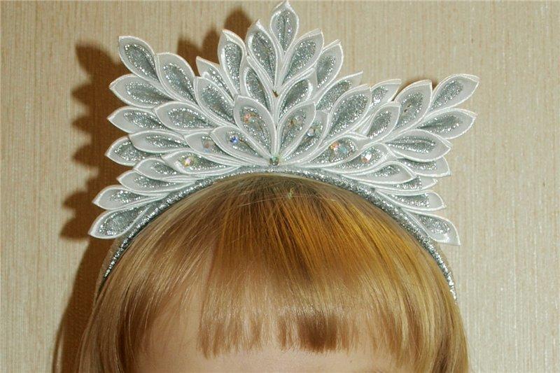 Новогодние головные уборы для девочек своими руками 23