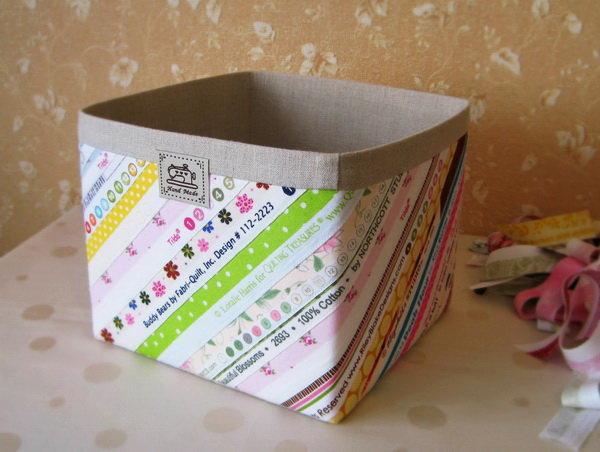 Коробка для вещей своими руками из ткани 72