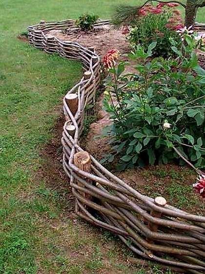 Плетеные корзины для сада своими руками 22