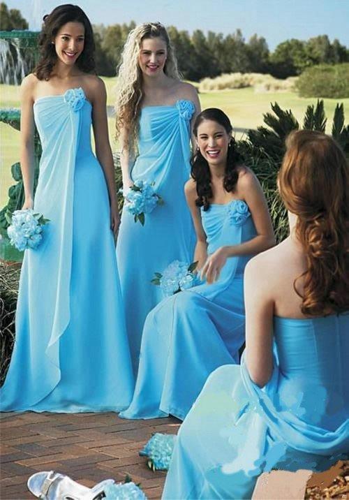Платья на свадьбу для подружек 2018