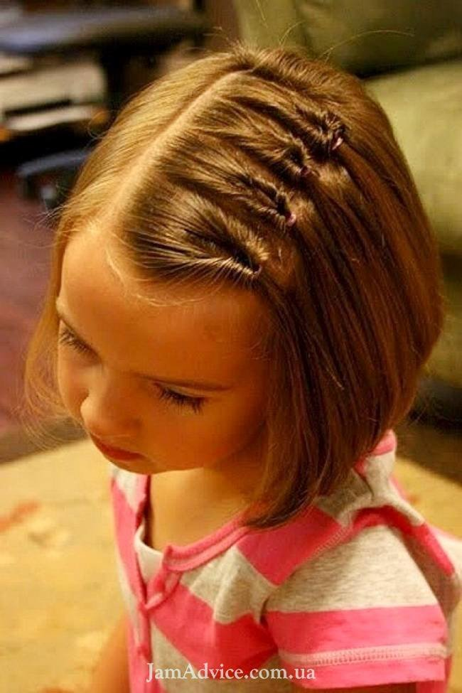 Прически на средние волосы для маленьких девочек