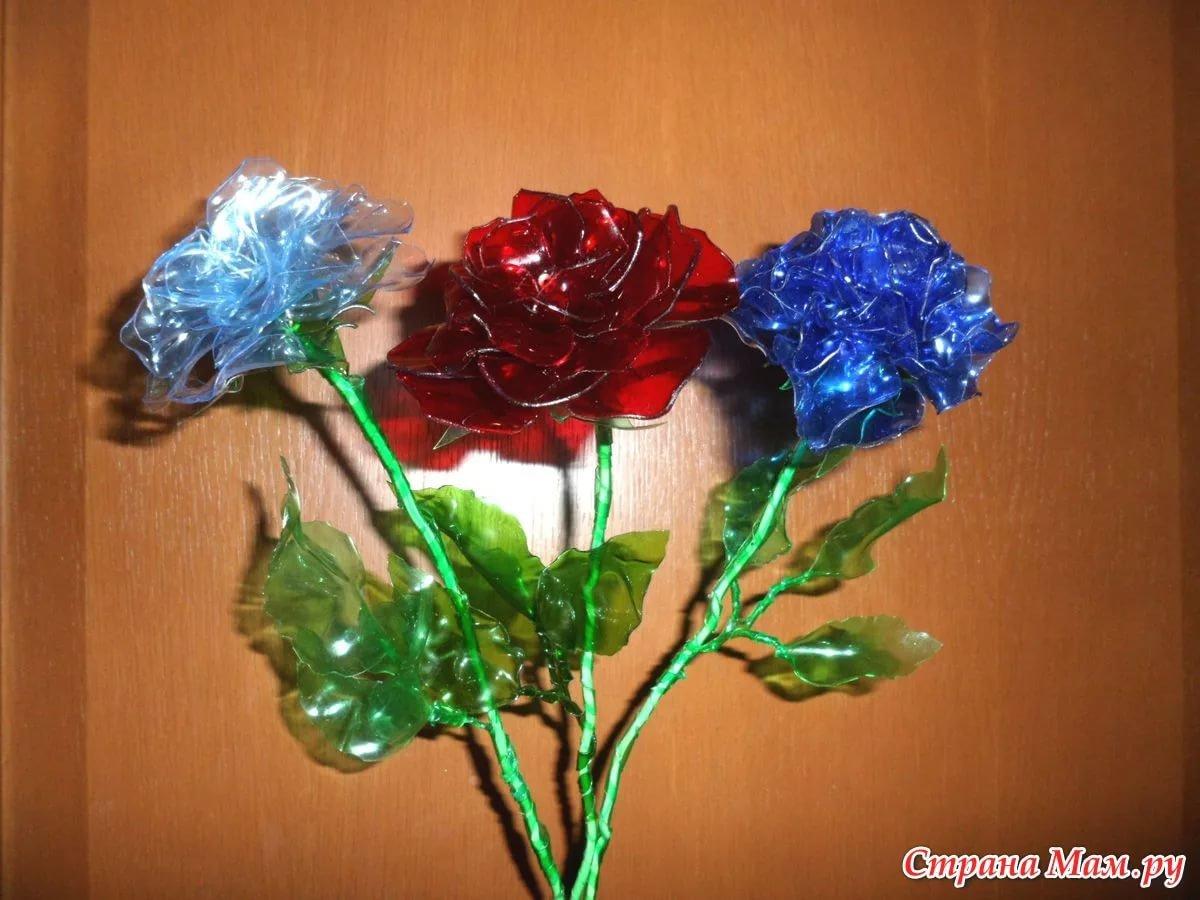 Поделка цветок из бутылки фото пошаговое
