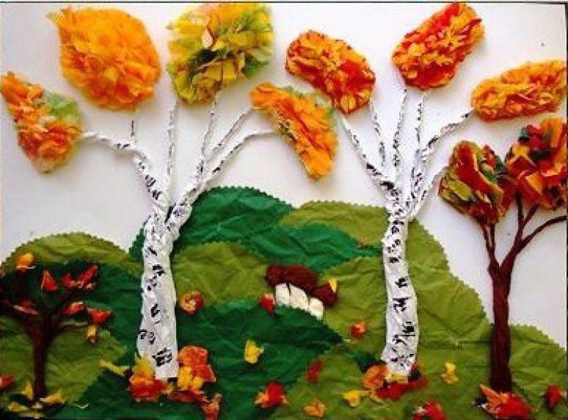 Осенняя аппликация своими руками в детском саду