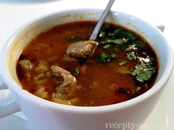 Суп харчо из баранины рецепт пошаговый с в