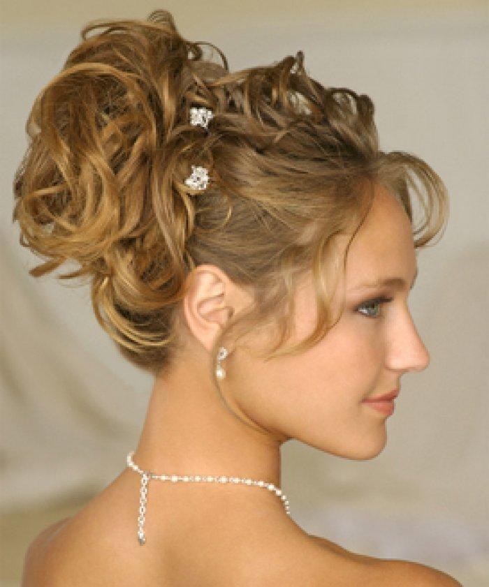 Прически на свадебное торжество средние волосы6