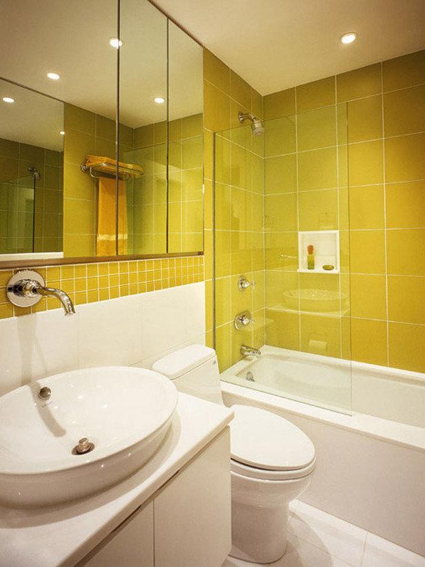 Интерьер ванной маленькой комнаты фото в современном стиле