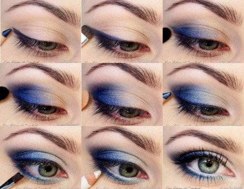 Макияж в домашних условиях на голубые глаза 957