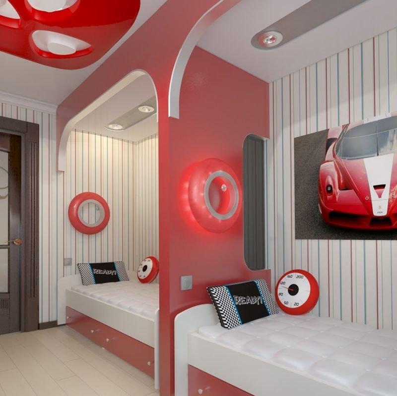 Детские комнаты для двоих детей подростков дизайн
