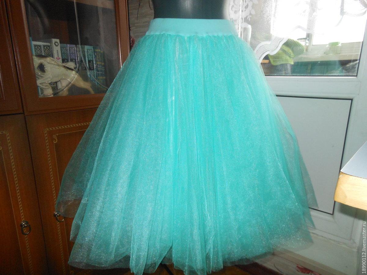 Как сшить юбку из сетки, из 85