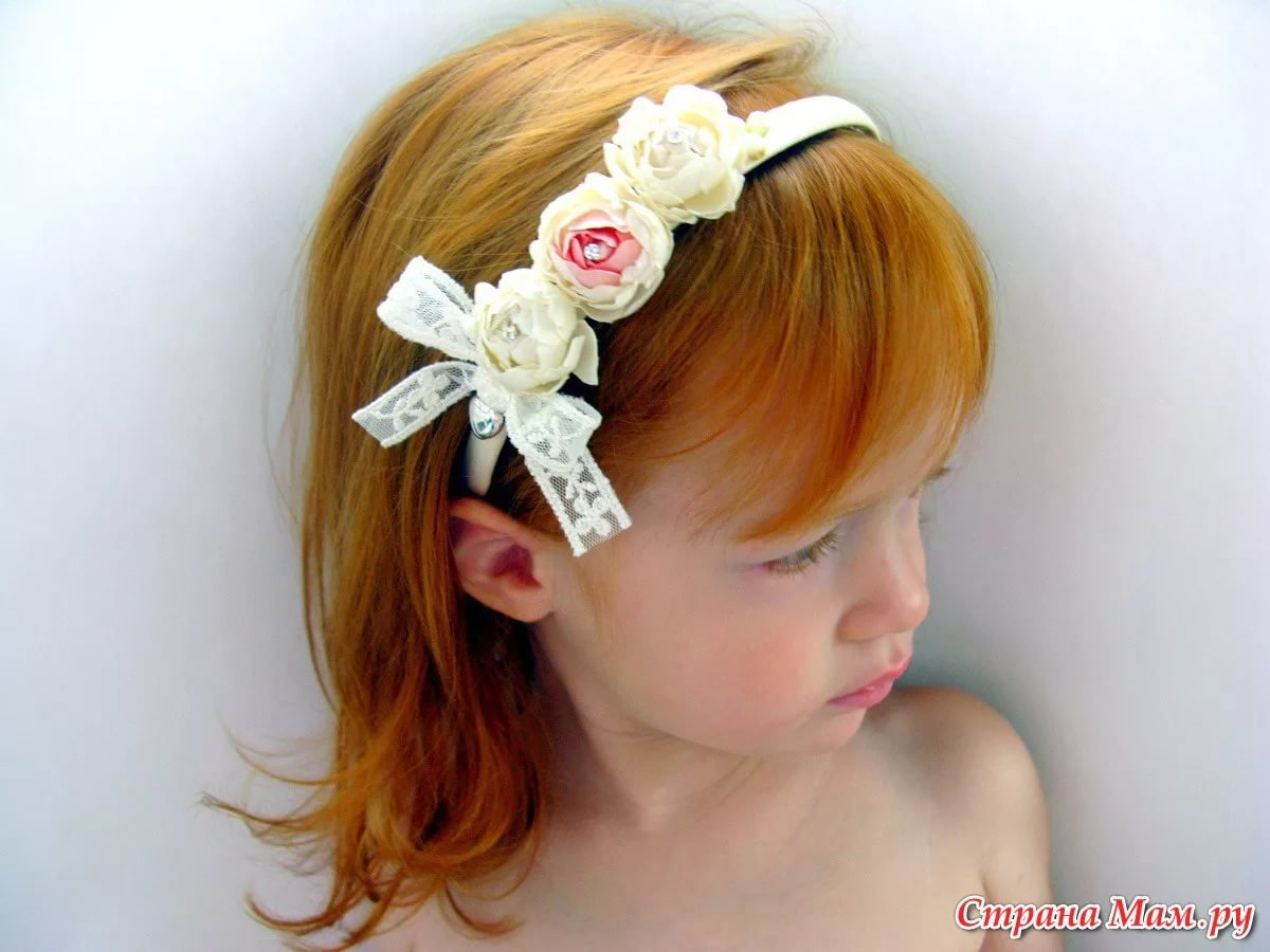 Как сделать повязку на голову девочке своими руками