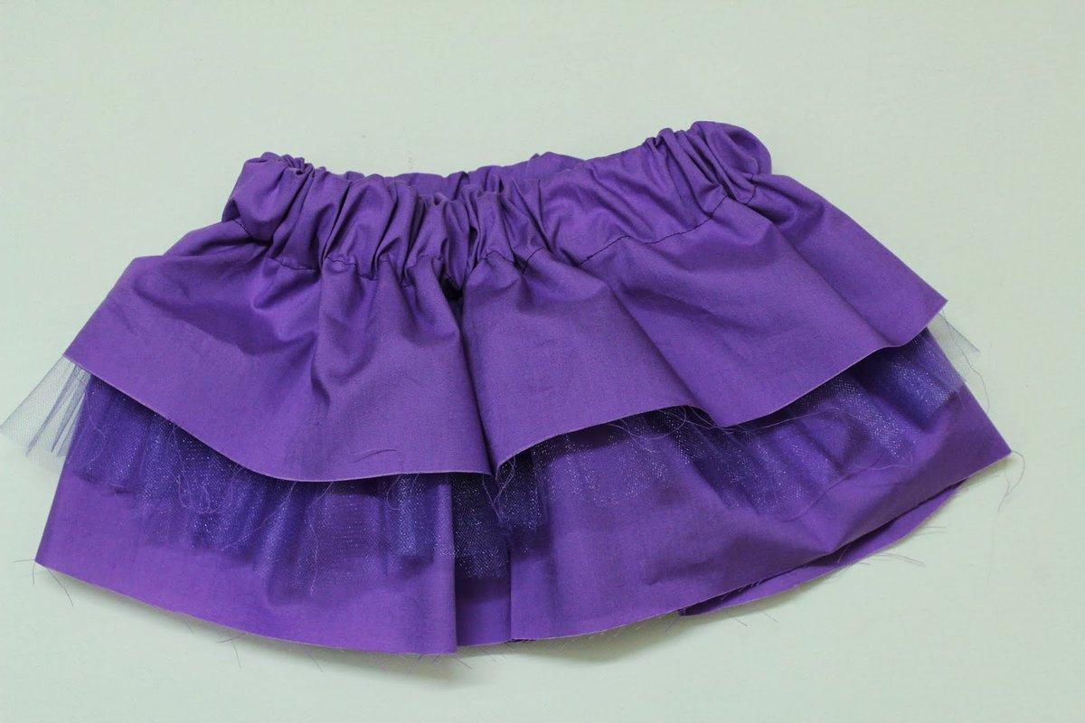 Как сшить юбочку для девочки фатина