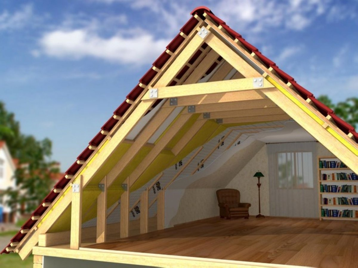 Сделать крышу бани мансардную своими руками