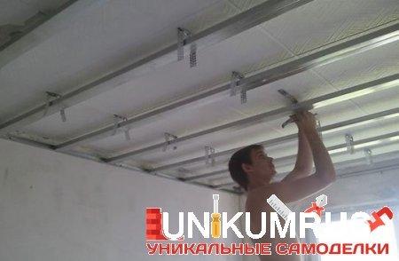 Как своими руками сделать с гипсокартона потолок 59