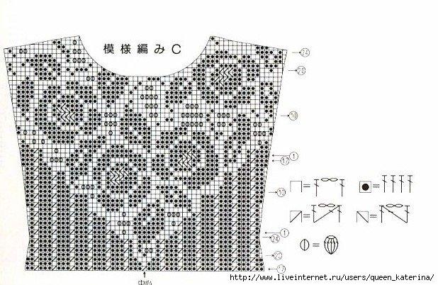 Схемы вязания моделей филейным вязанием 45