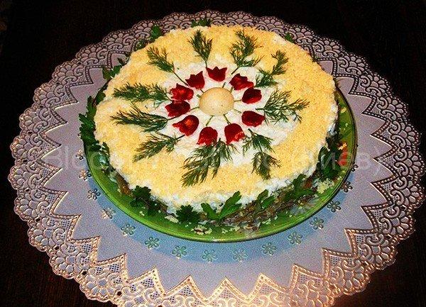 Как украсить салаты на свадьбу