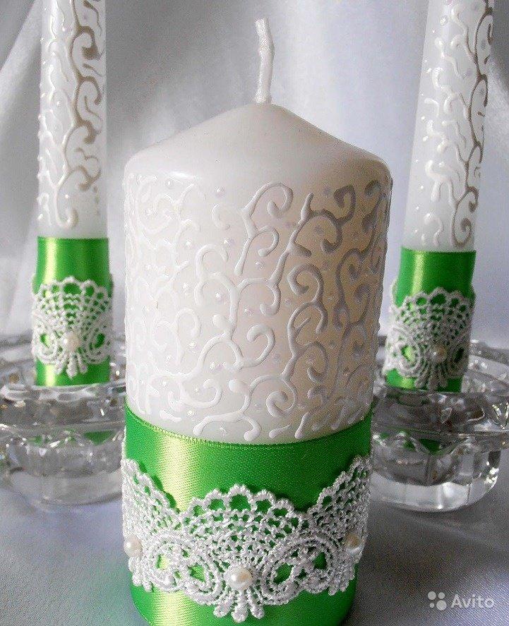 Свечи для свадьбы украсить своими руками