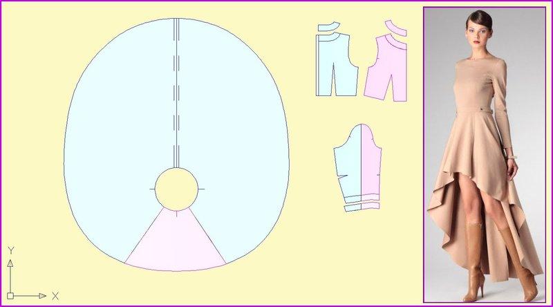 Как сшить юбку с асимметричным подолом видео