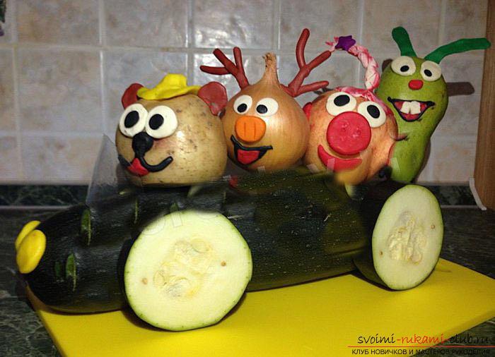 Поделки из овощей и фруктов с фото