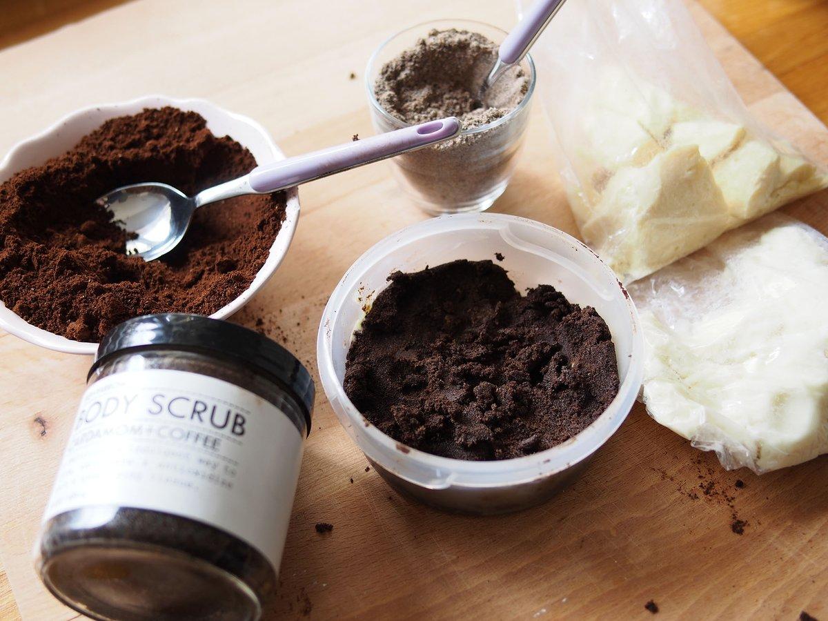 Кофейный скраб для тела в домашних условиях для лица