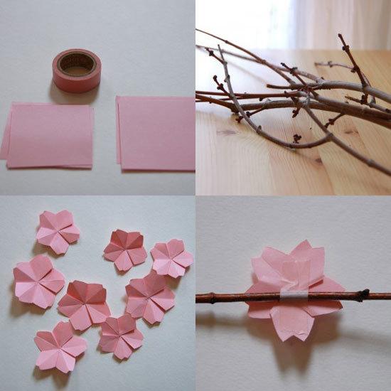 Как сделать ветки из бумаги своими руками 2