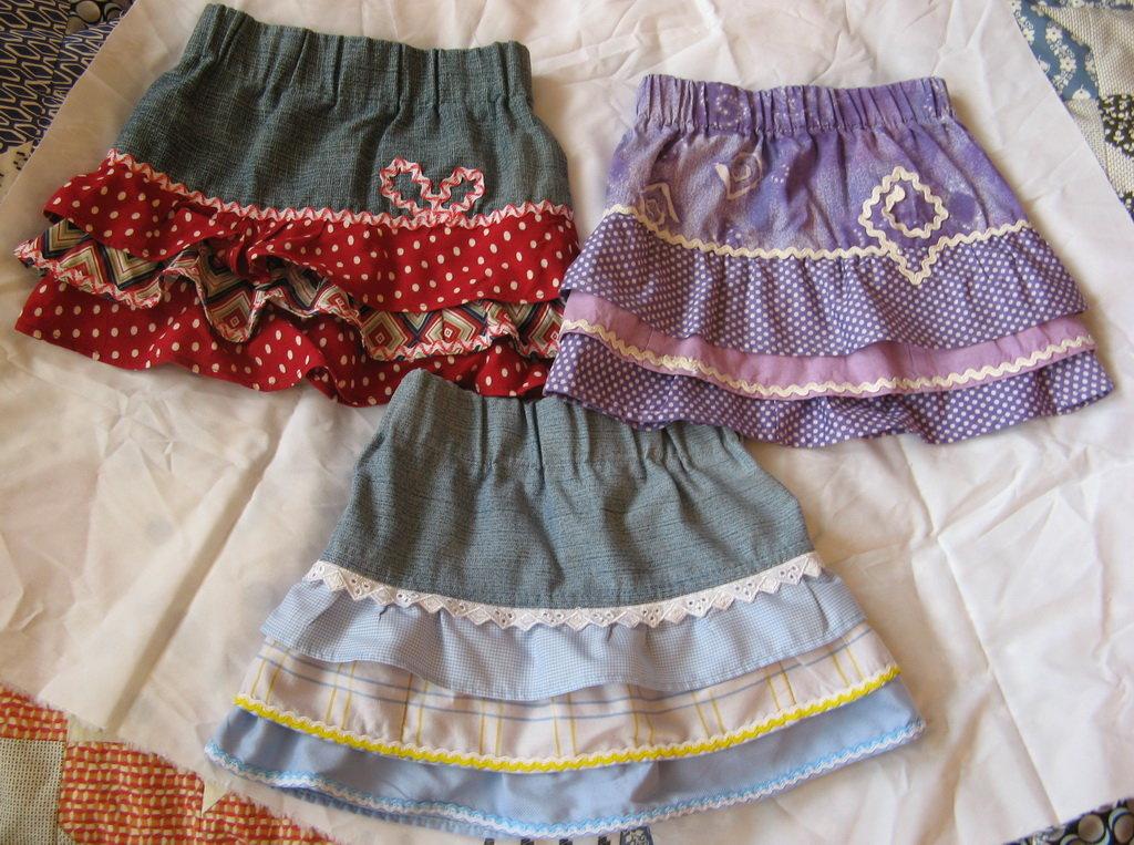 Сшить юбку для младенца 62