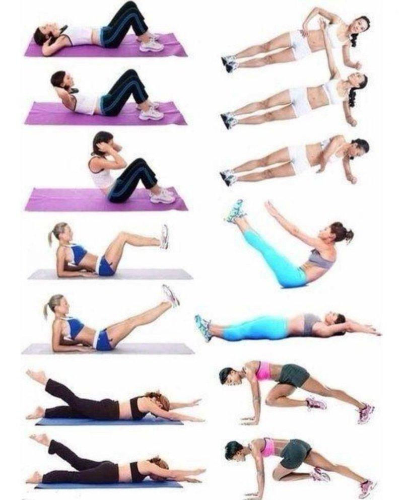 Упражнения для девушек убрать живот фото