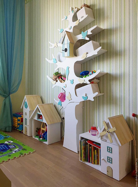 Деревянный стеллаж для игрушек своими руками 40