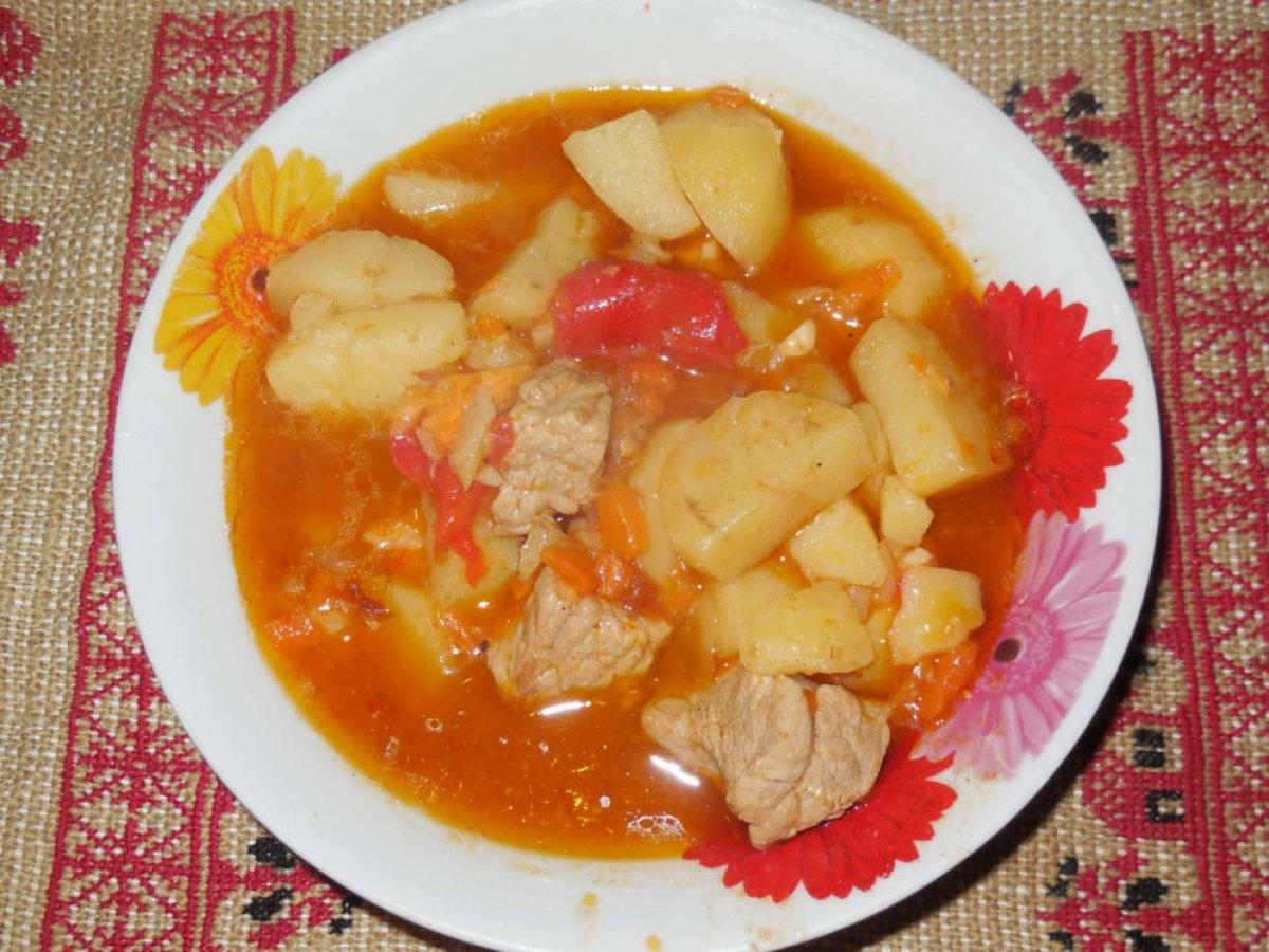 Пошаговый фото рецепт тушеной картошки с курицей в мультиварке