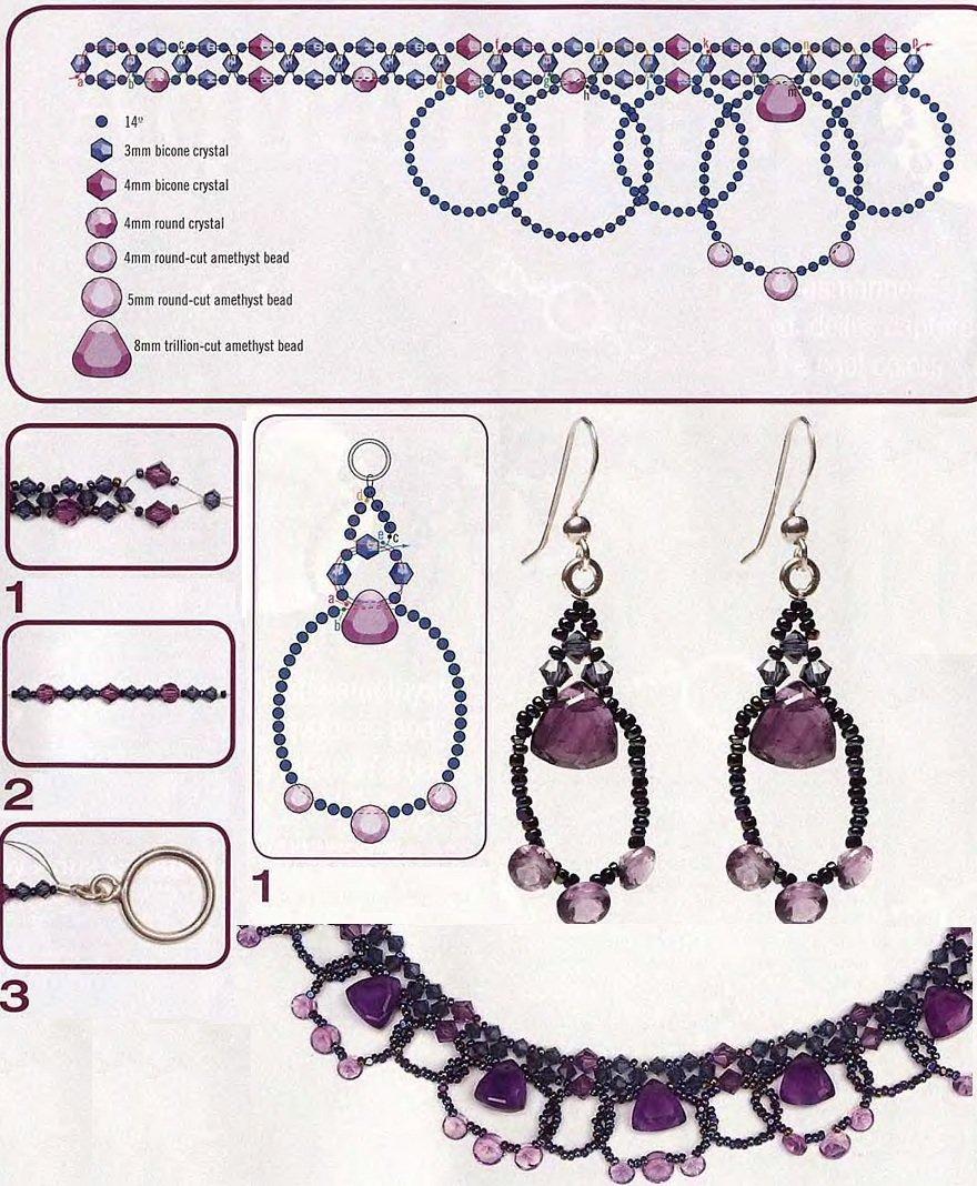 Колье ожерелье из бисера и бусин своими руками схемы 60