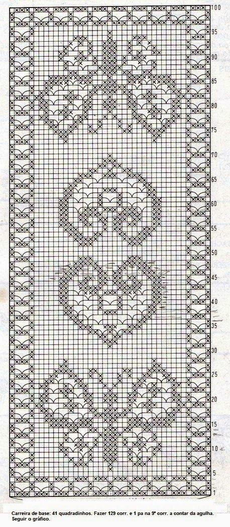 Филейное вязание салфетки скатерти схемы 28
