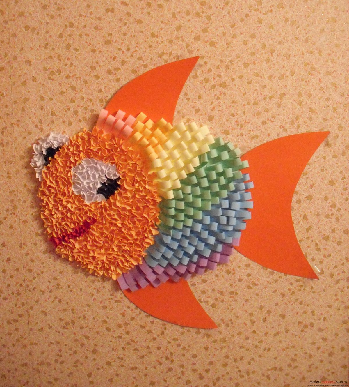 Рыбка своими руками для детей 3-4 лет 760