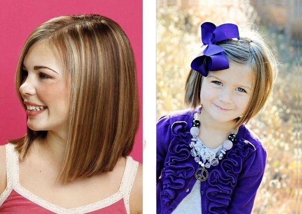 Стрижки девочке на длинные волосы без челки