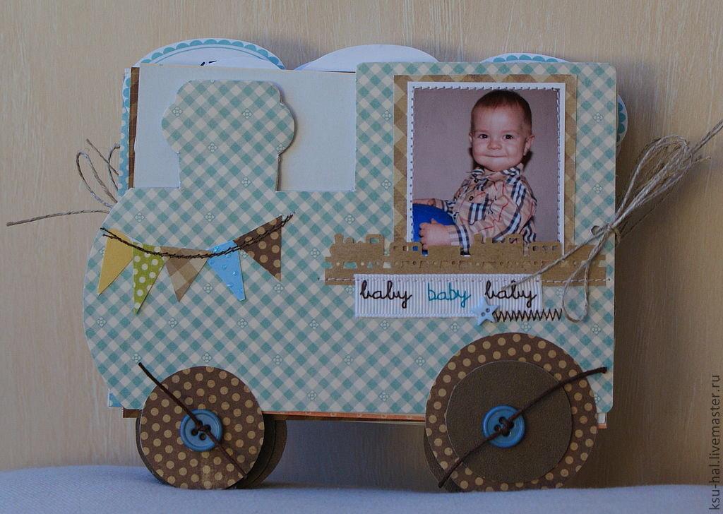 Скрап открытка для мальчика 1 год 37