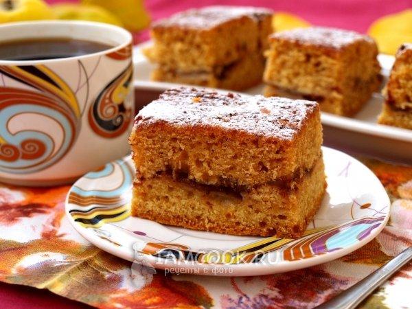 Пирог к чаю вареньем