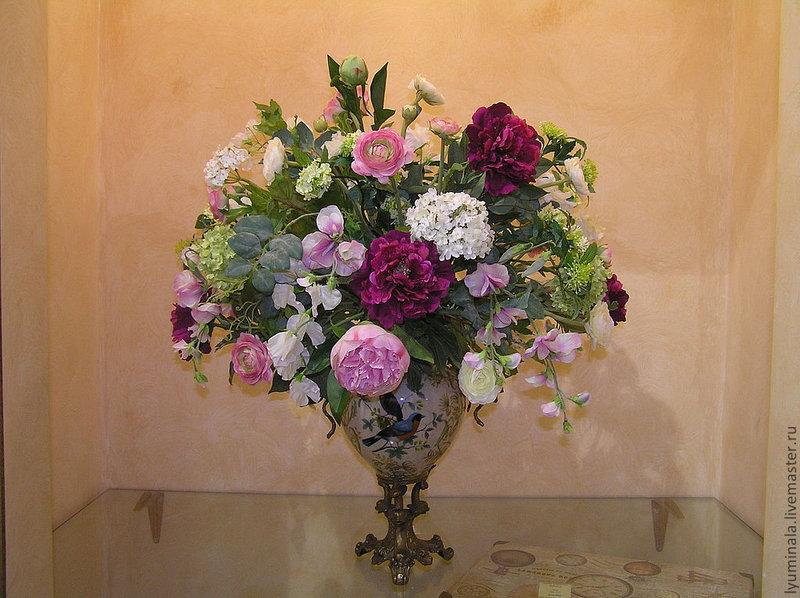 Букеты в интерьере из искусственных цветов своими руками