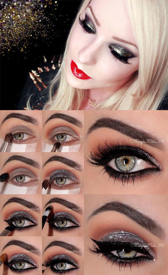 Новогодний макияж и как его сделать